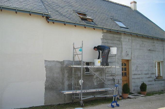 chantier d'un ravalement de façade